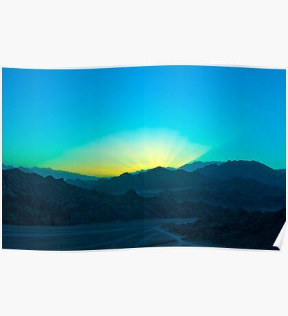 Sunset at Sinai Poster