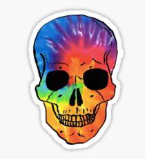 Tie Dye Skull Sticker