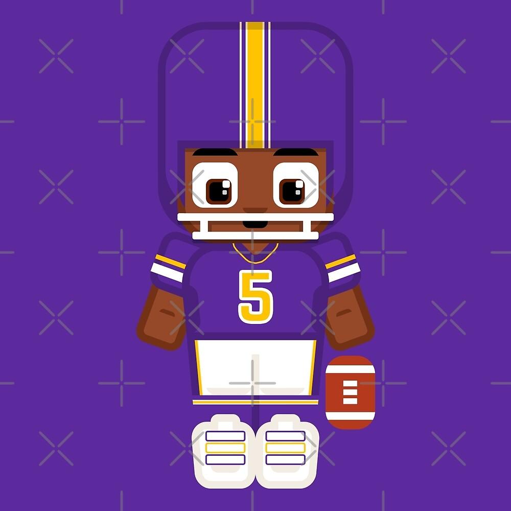 Super cute sports stars - American Football Purple by boxedspaper