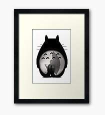 Totoro - Where I Stand #12 (Black Silhouette) Framed Print
