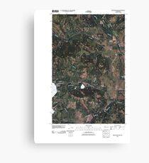 USGS Topo Map Washington State WA Moon Mountain 20110413 TM Canvas Print
