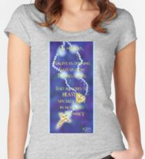 Rosary Prayer Women's Fitted Scoop T-Shirt