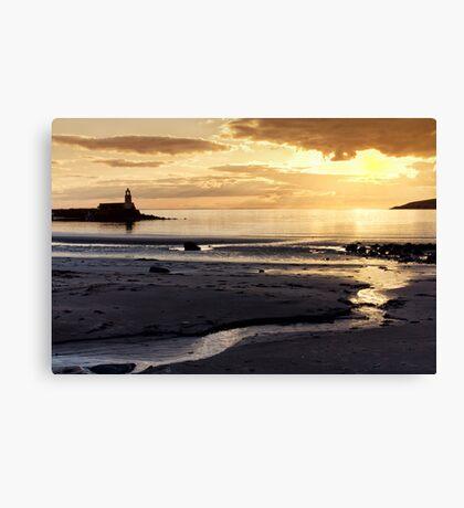 Sunset Port Logan Canvas Print