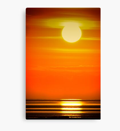 Solway Sunset at Southerness Canvas Print