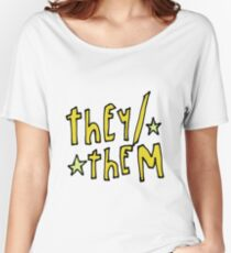 They/Them (pronouns) Women's Relaxed Fit T-Shirt