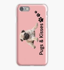 Pugs and Kisses! iPhone Case/Skin