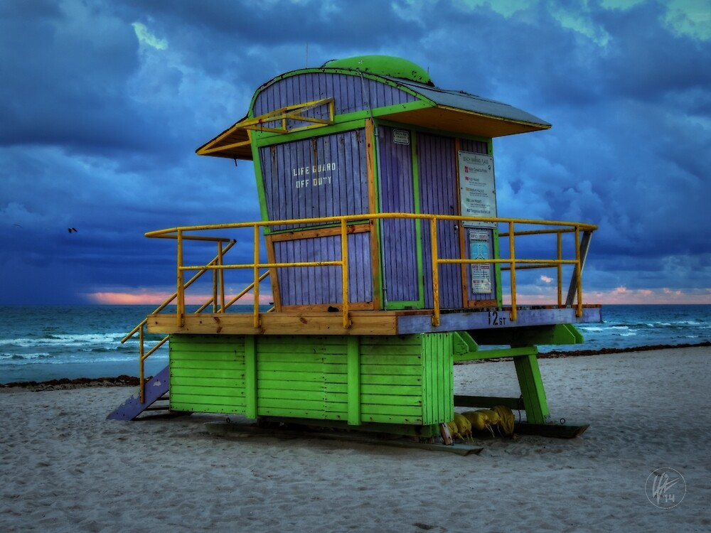 Miami - South Beach Lifeguard Stand 004 by Lance Vaughn