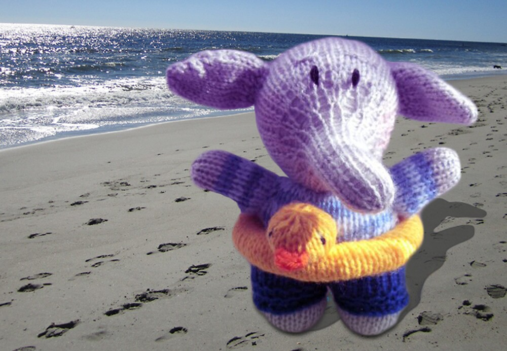 Knitted Beach Toy Elephant by mrsmcvitty