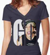 G-Dragon Women's Fitted V-Neck T-Shirt