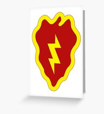 25th Infantry Division Insignia Greeting Card