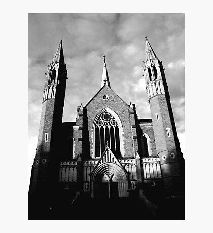 Sacred Heart Cathedral, Bendigo. B&W Photographic Print