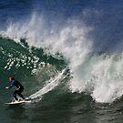 Damien Oliver surfing at Jan Juc by Darren Stones