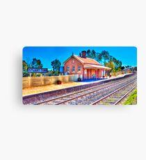 Stuart Town Station, Tilt Shift Canvas Print