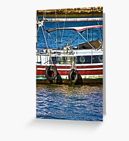 Boat at Marina Greeting Card
