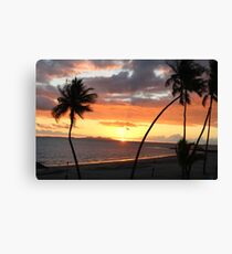 Goodbye Fijian Sun  Canvas Print