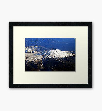Fly By Mt.St. Helens Framed Print