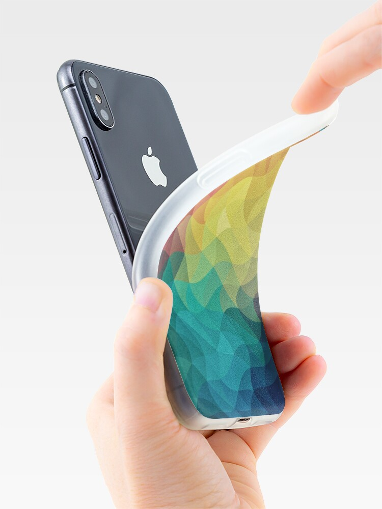 Alternative Ansicht von Abstract Color Wave Flash iPhone-Hülle & Cover