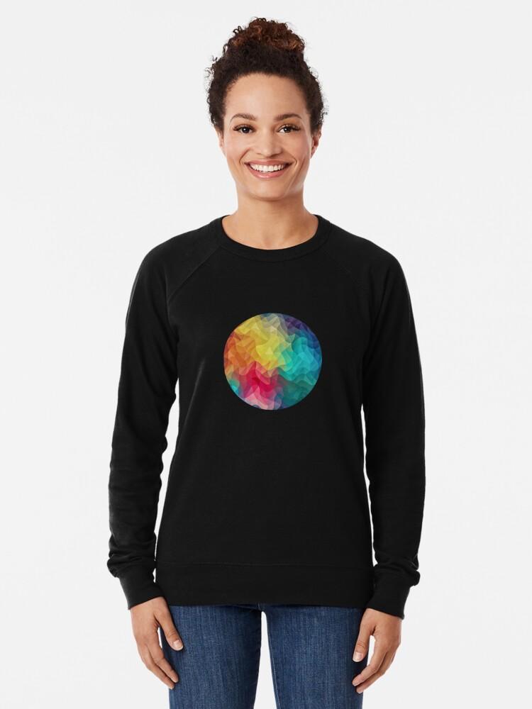 Alternative Ansicht von Abstract Color Wave Flash Leichter Pullover