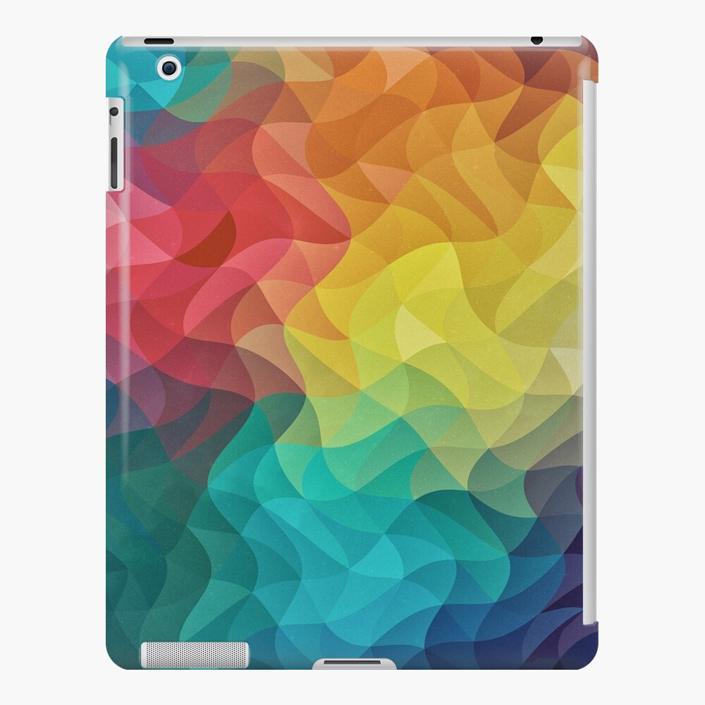 Abstract Color Wave Flash iPad-Hülle & Skin