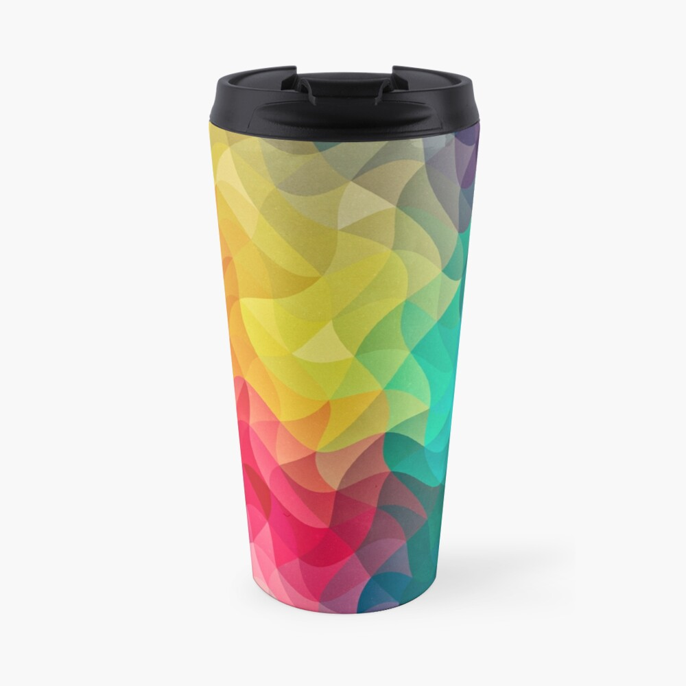 Abstract Color Wave Flash Thermobecher