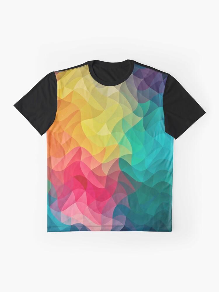 Alternative Ansicht von Abstract Color Wave Flash Grafik T-Shirt