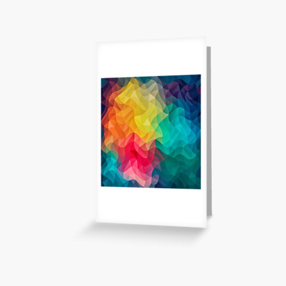 Abstract Color Wave Flash Grußkarte