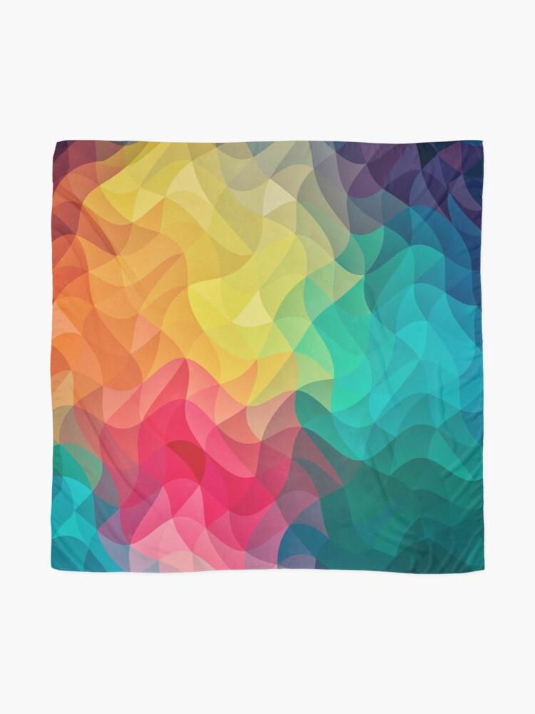 Alternative Ansicht von Abstract Color Wave Flash Tuch
