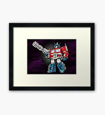 Transformers Optimus Prime Chibi Framed Print