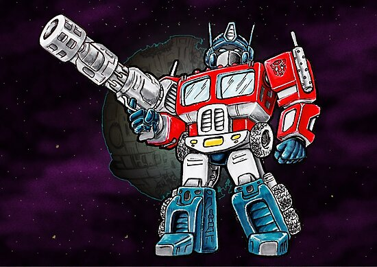 Transformers Optimus Prime Chibi by TomCaffrey