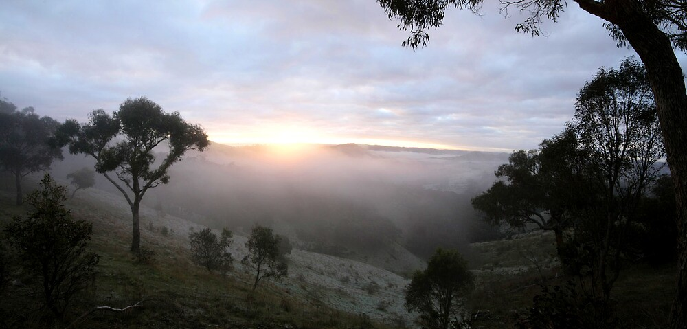 Sunrise Valley of a Thousand Hills - Victoria by Emmy Silvius