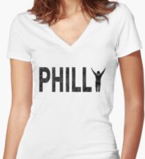 Philly State of Mind Women's Fitted V-Neck T-Shirt