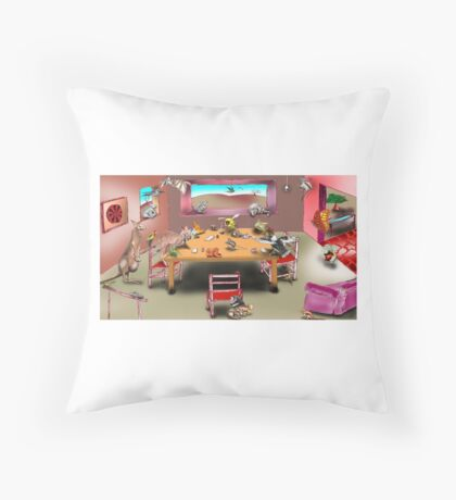 Home Invasion Throw Pillow