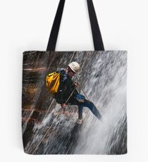 Abseiling the Empress Falls Tote Bag