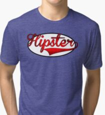 HIPSTER TEE | RED Tri-blend T-Shirt
