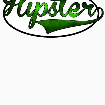 HIPSTER TEE | GREEN by RhysDesigns94