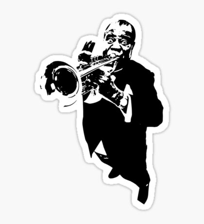 Louis Armstrong t-shirt Sticker
