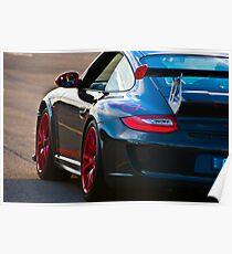 Red Rimmed Black Porsche GT3 Poster