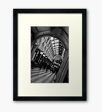 Shopping at the Mall - Melbourne Framed Print