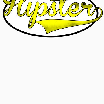 HIPSTER TEE | YELLOW by RhysDesigns94