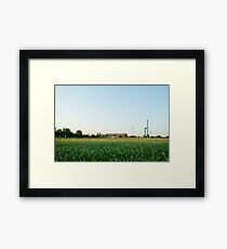 Some factories in the distance Framed Print