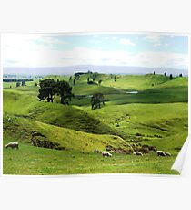 New Zealand's Green and Pleasant Land Poster