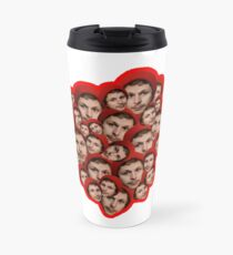 Michael Cera Plz - Red Outline Travel Mug