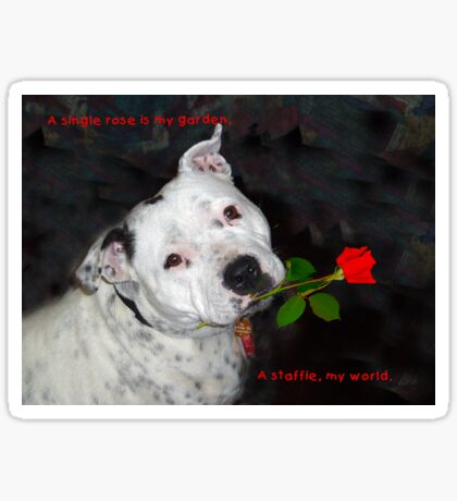 For the Love of Staffies Sticker