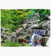 Honor Heights Park Waterfalls Poster