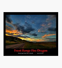 Front Range Fire Dragon Photographic Print