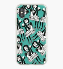 Woman with Black Gloves iPhone Case