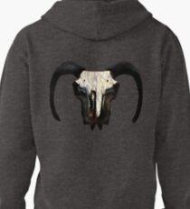 Ram Skull Runes Pullover Hoodie