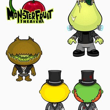 MonsterFruit Theater Large Sticker Sheet 1 by wickedstudios
