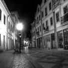 Aveiro by night in B&W (HDR) by João Figueiredo