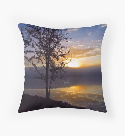 Misty Reflections Throw Pillow